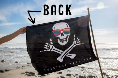 Wheeland Brothers Shaka Pirate Flag